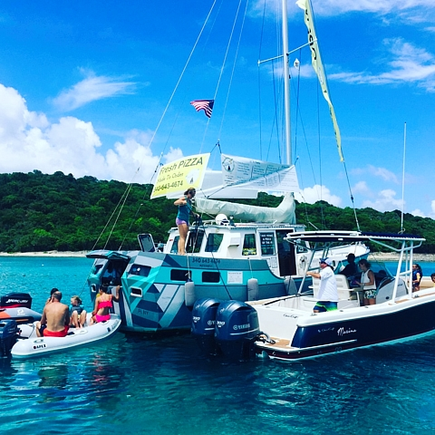 Private St John boat charters USVI BVI Christmas Cove
