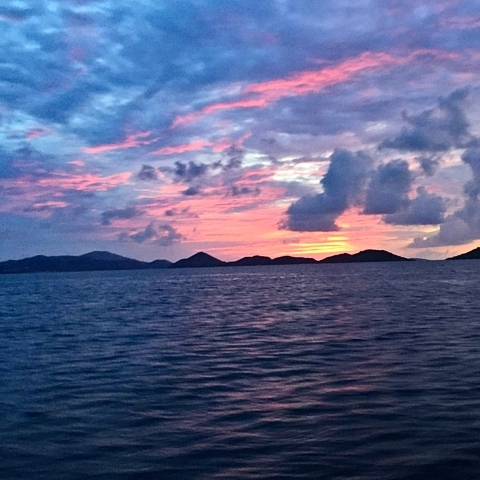 St John sunset, USVI.